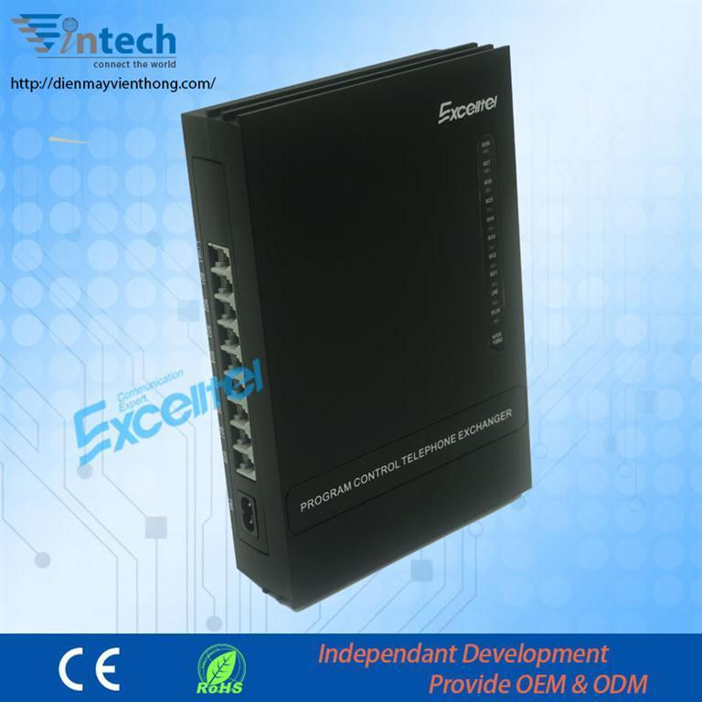 Sản phẩm tổng đài điện thoại exelltel Pabx CS108