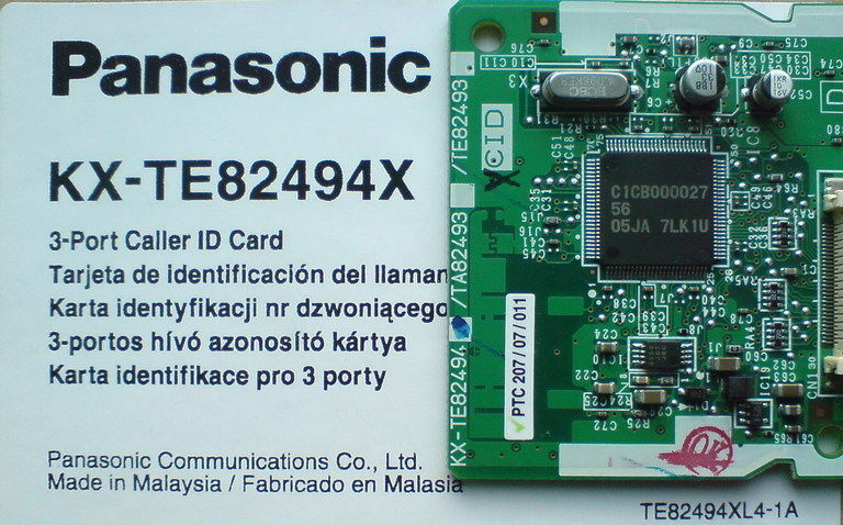 Card hien thi so Panasonic KX-TE82494