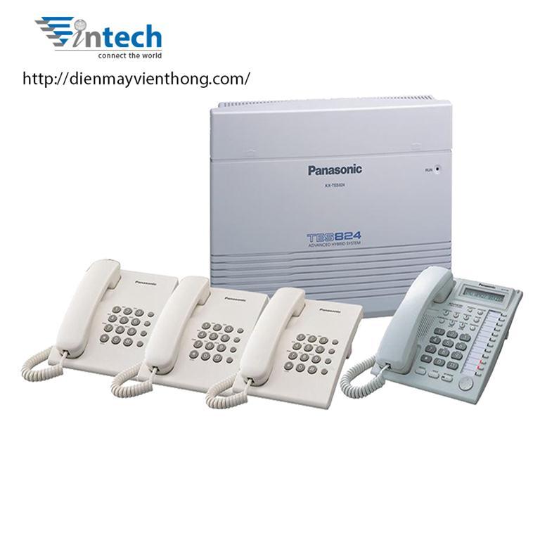 Tổng đài Panasonic KX-TES824 – 3 vào 16 máy lẻ