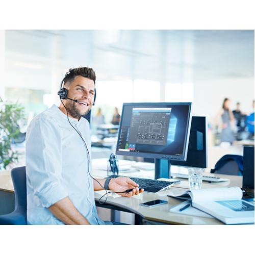 Tai nghe Call center Sennheiser SC 75 USB CTRL