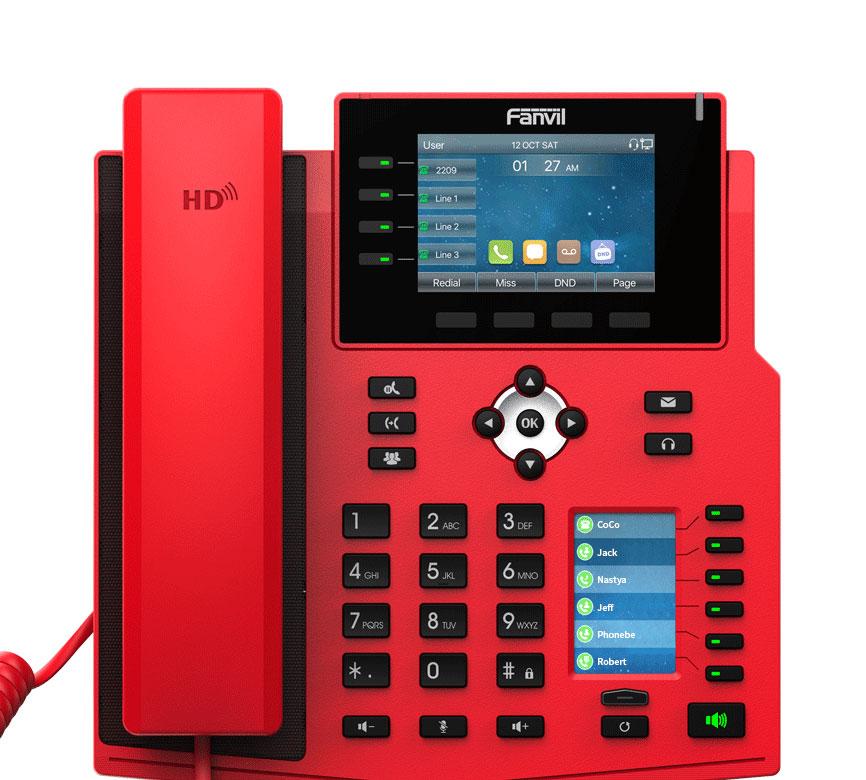 Fanvil X5U-R được trang bị với 2 màn hình màu và 30 phím DSS