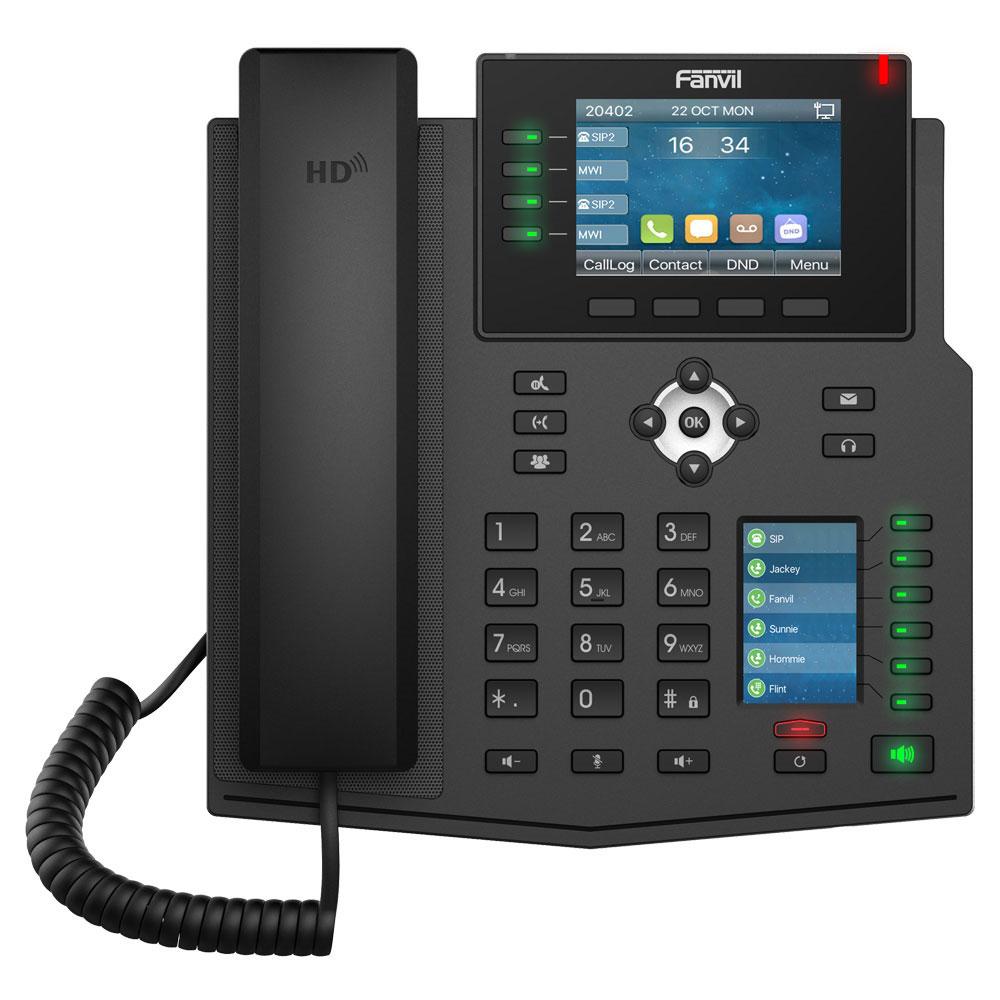 Fanvil X5U là điện thoại với 2 màn hình màu rõ nét chuẩn HD