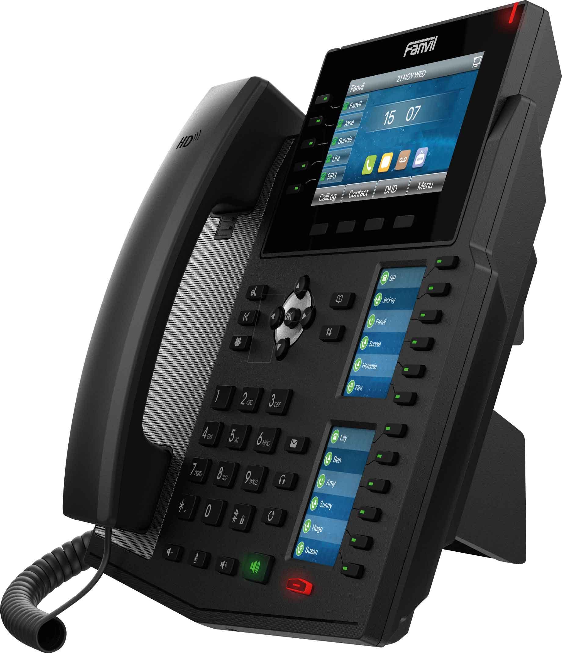 Fanvil X6U có phần mềm hỗ trợ Bluetooth