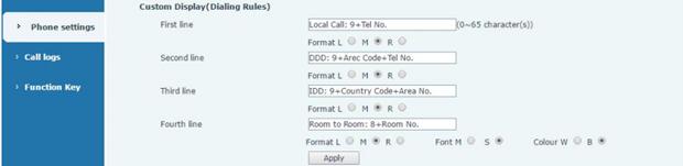 Cài đặt địa chỉ hiện thị trên màn hình fanvil h5