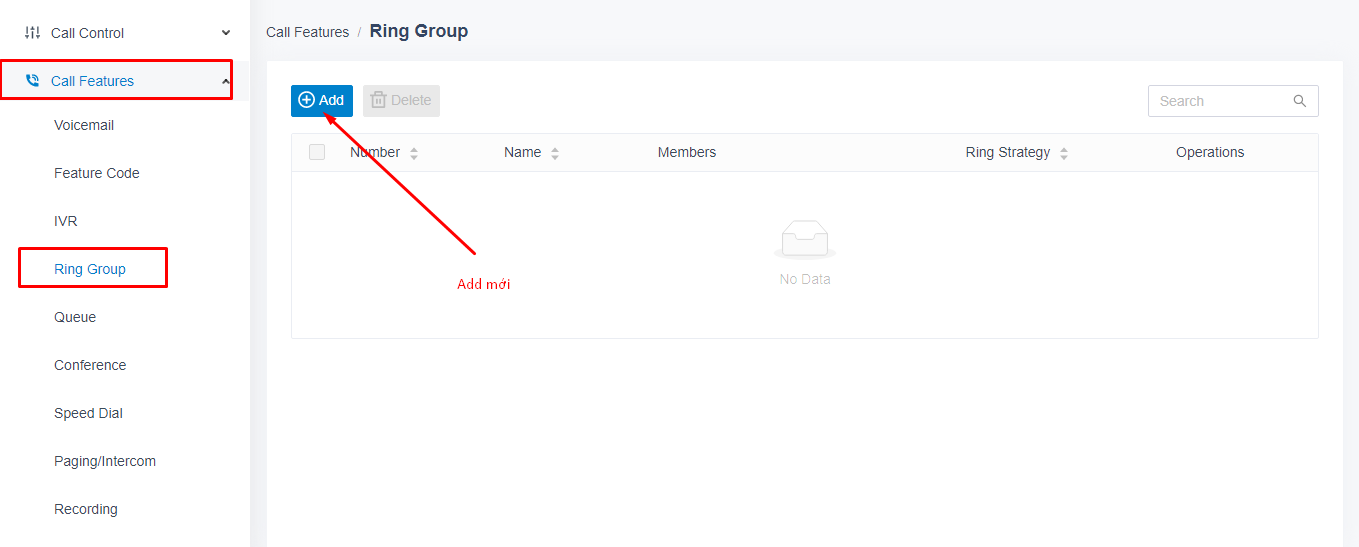 Add Ring Group