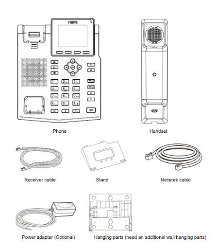 Hướng dẫn lắp đặt và cách kết nối điện thoại  fanvil x3sg